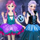 Game Anna And Elsa First Halloween 1